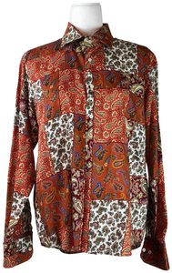 Etro Multicolored Paisley Pattern Button Up Button Down Shirt