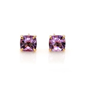 Tiffany & Co. Sparklers Amethyst 18k Yellow Gold Stud Earrings