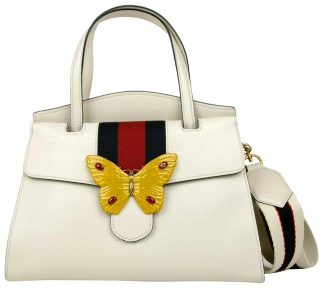 Item - Top Handle Bag Butterfly Totem Medium S 505344 9674 Ivory Leather Satchel