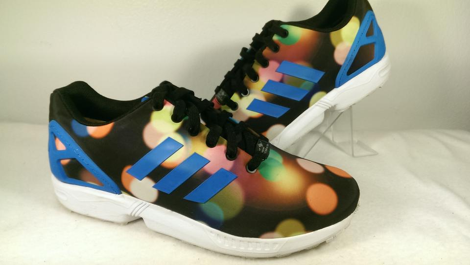 cheap for discount b5482 ecf0c adidas Black Blue Multi-color Zx Flux City Light Bubble Jogger Running 10  Shoes 58% off retail