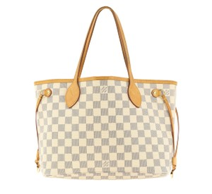 Louis Vuitton Neverfull Pm Damier Azur Tote in Blue