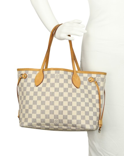 Louis Vuitton Neverfull Pm Damier Azur Tote in Blue Image 10
