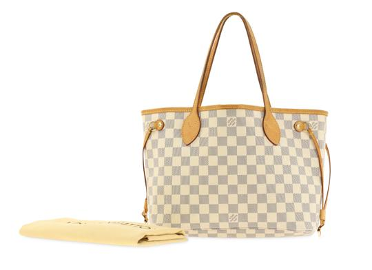 Louis Vuitton Neverfull Pm Damier Azur Tote in Blue Image 11