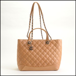 bea681b214f4 Chanel 9840-chanel Small Shopping Dark Beige Calfskin Leather Tote ...