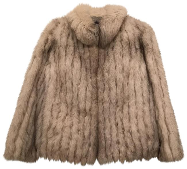 Item - White Silver Gray Blue Natural Fox Coat Size 10 (M)