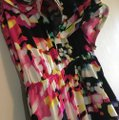 H&M Pink Black Salsa One Open Shoulder Ruffles Tiered Layered Draped High Low Festival Dance Mid-length Night Out Dress Size 4 (S) H&M Pink Black Salsa One Open Shoulder Ruffles Tiered Layered Draped High Low Festival Dance Mid-length Night Out Dress Size 4 (S) Image 7