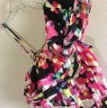 H&M Pink Black Salsa One Open Shoulder Ruffles Tiered Layered Draped High Low Festival Dance Mid-length Night Out Dress Size 4 (S) H&M Pink Black Salsa One Open Shoulder Ruffles Tiered Layered Draped High Low Festival Dance Mid-length Night Out Dress Size 4 (S) Image 10