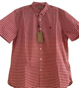 Burberry Button Down Shirt Parade Red