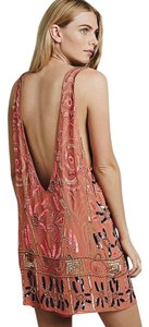 Free People short dress Pink/Rose Beaded Sequin Embellished Shift Festival on Tradesy