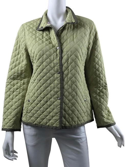 Item - Green/Brown Sport Quilted Button Down Jacket Size 6 (S)