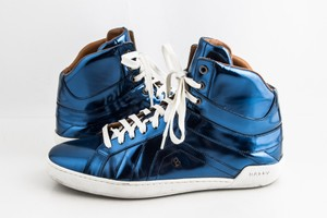 Bally Blue Etoy Calf Leather Sneakers Shoes