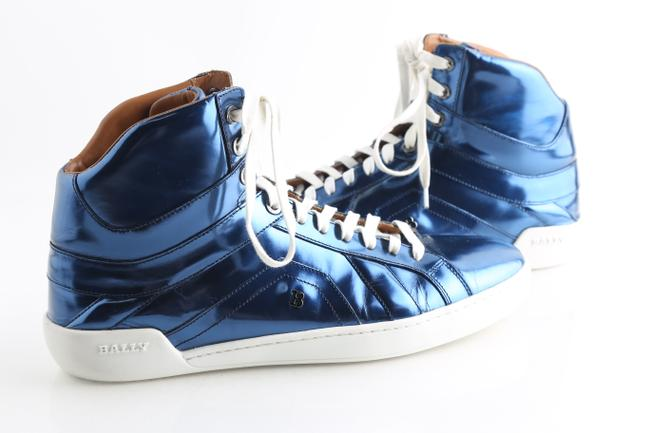 Item - Blue Etoy Calf Leather Sneakers Shoes