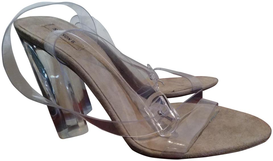 2f7866a890a YEEZY Translucent Neutral Season 6 Pvc Ankle Strap Clear Sandals Size EU  37.5 (Approx. US 7.5) Regular (M, B) 46% off retail