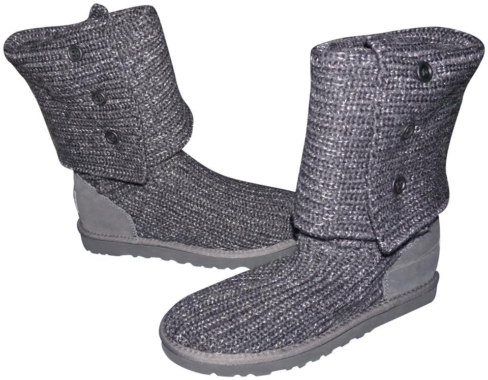a8ef5b2804a UGG Australia Gray Women's Classic Cardy Color Boots/Booties Size US 7  Narrow (Aa, N) 6% off retail