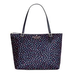 Kate Spade Tote in Navy with Print
