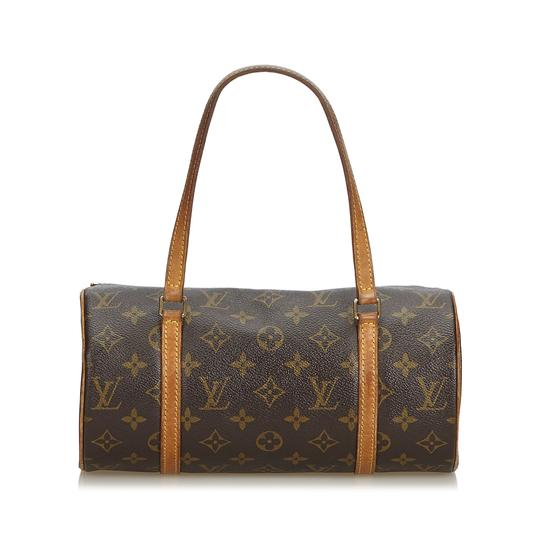 70aa9ca87ba5 Louis Vuitton Papillon Monogram 26 France Brown Coated Canvas Leather  Shoulder Bag