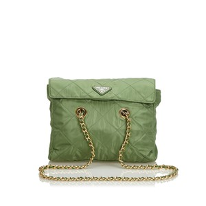9ea87b32599c Green Prada Bags - 70% - 90% off at Tradesy