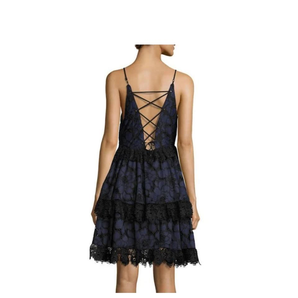 575eb5ce0fca0 Kendall + Kylie Navy Babydoll Lace Short Cocktail Dress Size 8 (M ...