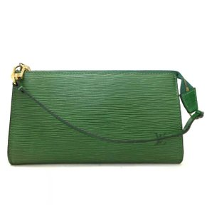 4fd8209bbbab Louis Vuitton Cosmetic Clutch Pouch Wristlet in Borneo Green 3 Way Bag