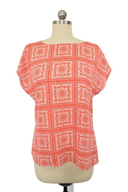 Item - Red Damask Small Blouse Size 6 (S)