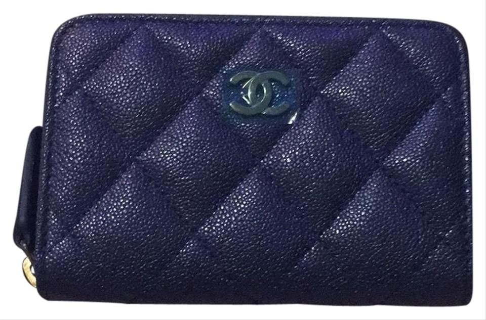 f838213e7b4f Chanel Blue Zippy Coin Wallet - Tradesy
