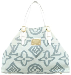 Louis Vuitton Lv Cabas Tahitienne Gm Tote in Pale Green