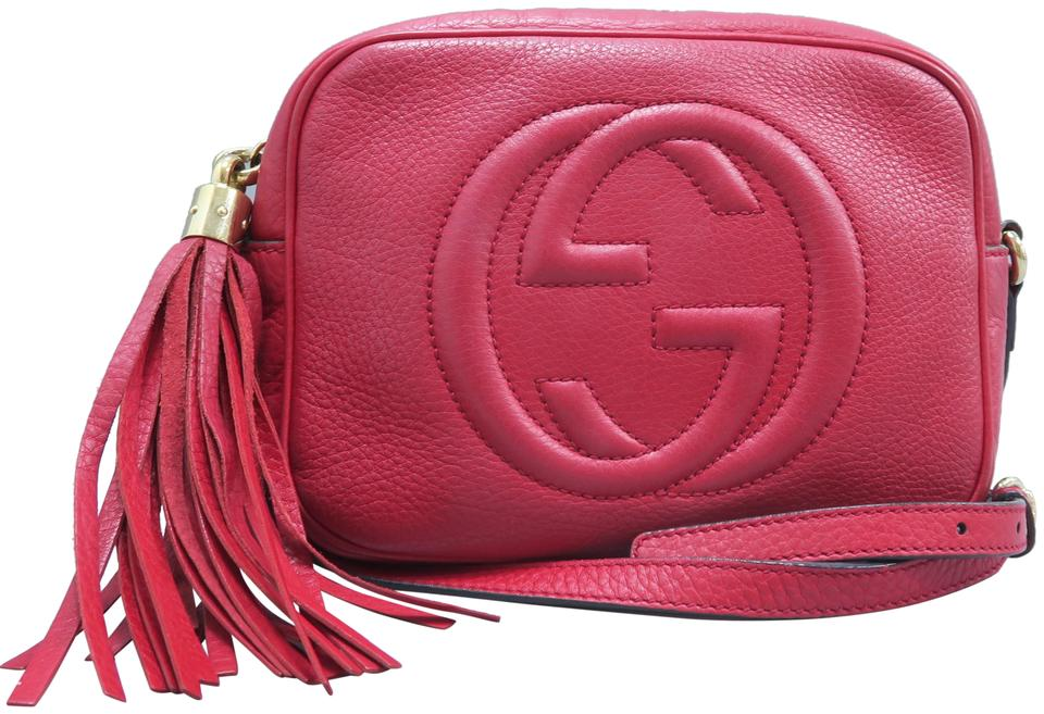 10a3a5adcc34 Gucci Soho Disco Red Calfskin Cross Body Bag - Tradesy