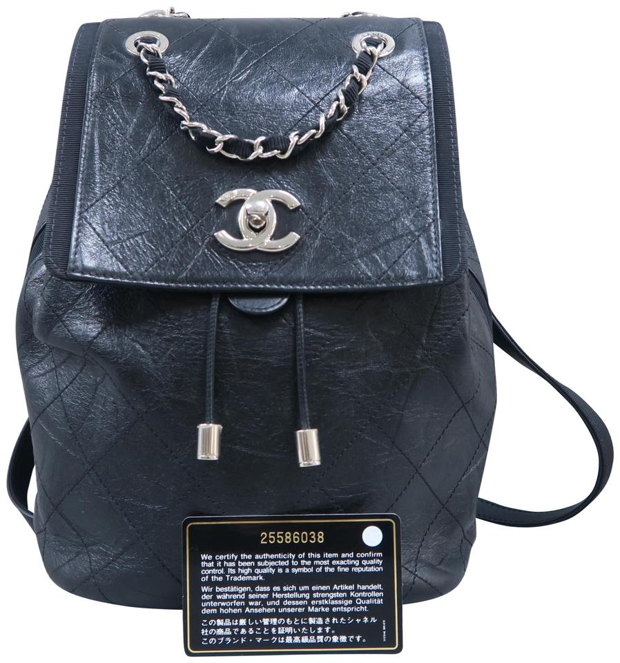 7653999056cf Chanel Quilted Black Calfskin Leather Backpack - Tradesy