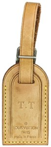 Louis Vuitton Louis Vuitton Small Tan Vachetta Leather Luggage Tag With Initials