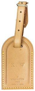 Louis Vuitton Louis Vuitton Tan Vachetta Leather Luggage Tag With Initials