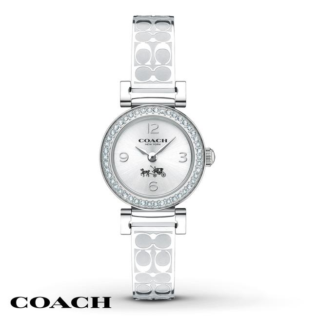 Item - Silver Madison Signature Bangle Crystal Dial Womens 14502201 Watch