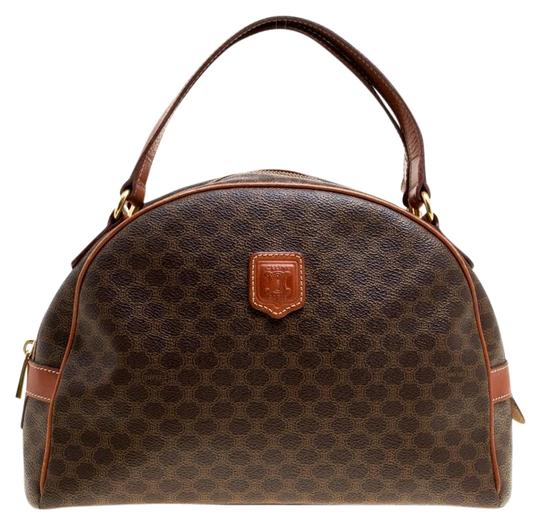 Preload https://img-static.tradesy.com/item/25279766/celine-macadam-coated-canvas-and-brown-leather-satchel-0-1-540-540.jpg