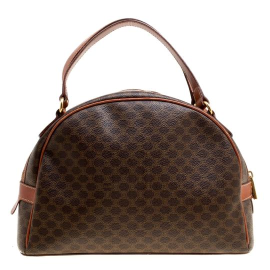 Céline Leather Satchel in Brown Image 1