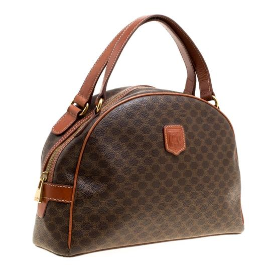 Céline Leather Satchel in Brown Image 3