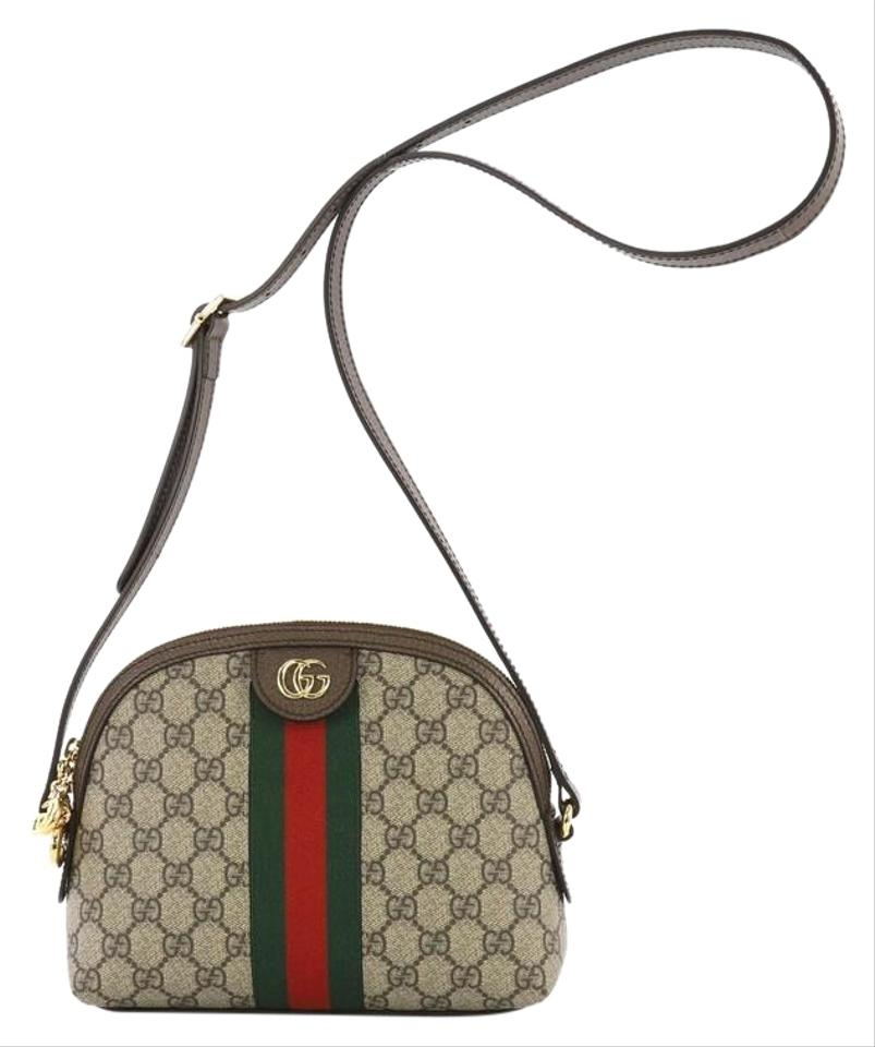 92018514728 Gucci Dome Ophidia Gg Small Brown Coated Canvas Shoulder Bag - Tradesy
