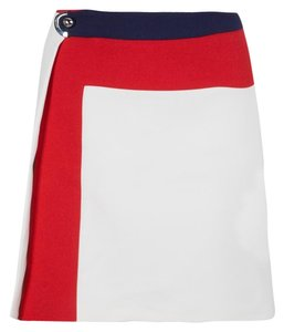 Salvatore Ferragamo Detail Cotton Nylon Mini Skirt Multicolor