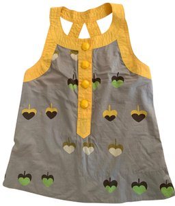 Marc by Marc Jacobs grey and yellow Halter Top