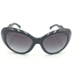 b7ee7dfdc3e Chanel Chanel Oversize Cat Eye Black Floral Leather Sunglasses 5318-Q 501 S8