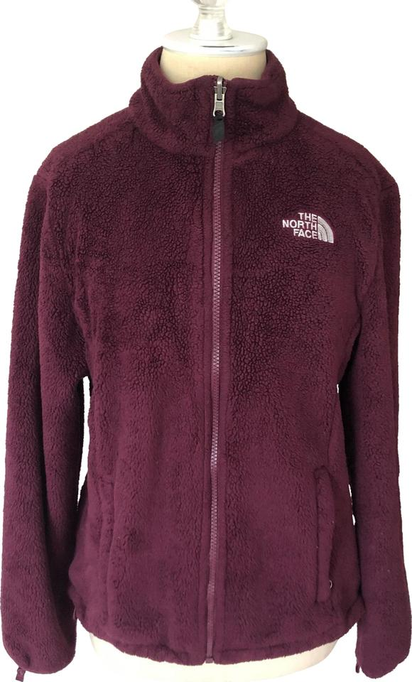 c713d8c98b49a The North Face Maroon Osito Zip Up Fleece Jacket Activewear Size 4 ...
