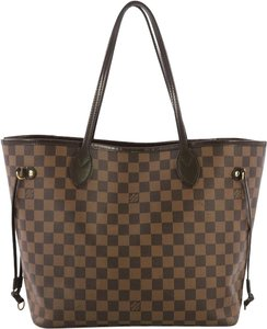 Louis Vuitton Damier Neverfull Tote in brown