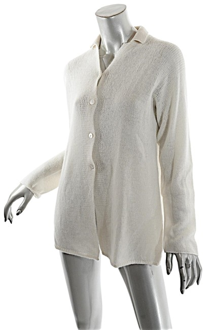 Item - Cashmere Cream Loosely Woven Cashmere Cardigan Ivory Sweater