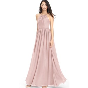 5dff70debc2 Azazie Dusty Rose Chiffon Kailyn High Neck Strappy Back Gown Feminine  Bridesmaid Mob Dress Size