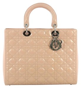 9ee32f56d2f Dior Christian Patent Lady Satchel in light pink. Dior Lady Handbag Cannage  Quilt Large Light Pink Patent Leather Satchel