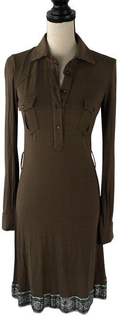 Item - Brown Class Mid-length Night Out Dress Size 8 (M)