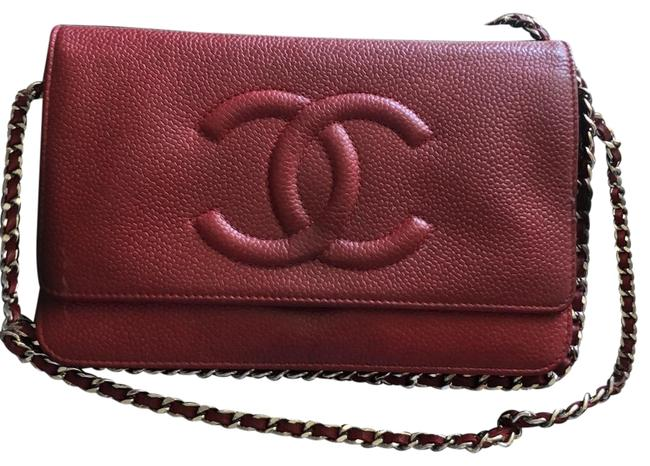 Chanel Wallet On The Chain Red Leather Cross Body Bag Chanel Wallet On The Chain Red Leather Cross Body Bag Image 1