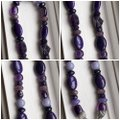 Carolyn Pollack Purple Dark Purple Lavender & Silver Various Shades Of Beaded Sterling Necklace Carolyn Pollack Purple Dark Purple Lavender & Silver Various Shades Of Beaded Sterling Necklace Image 3