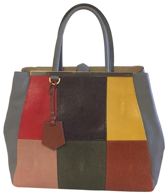 Item - Strengrene Collectible Grey Lambskin Leather Tote
