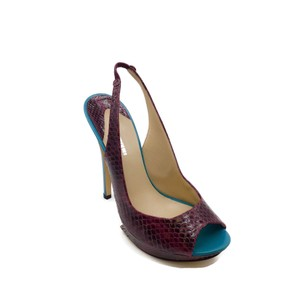 Nicholas Kirkwood Plum/Teal Pumps