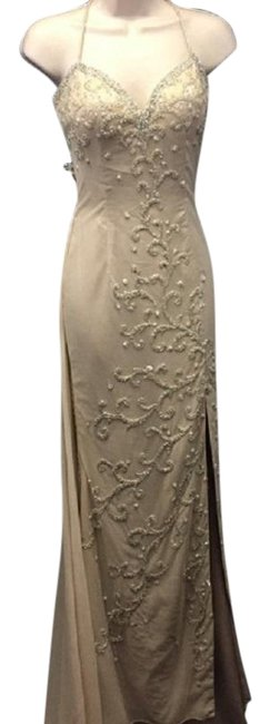 Preload https://img-static.tradesy.com/item/25280776/beige-long-formal-dress-size-os-one-size-0-1-650-650.jpg