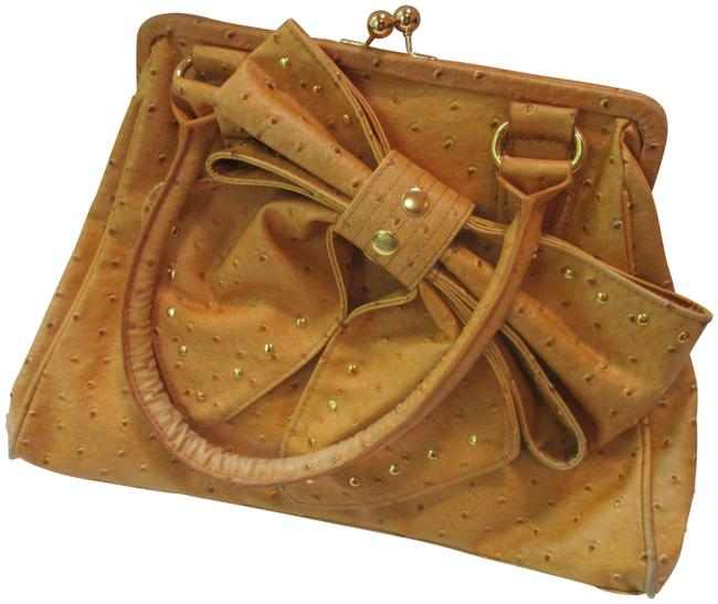 Hot In Hollywood Butterscotch Manmade Materials Satchel Hot In Hollywood Butterscotch Manmade Materials Satchel Image 1